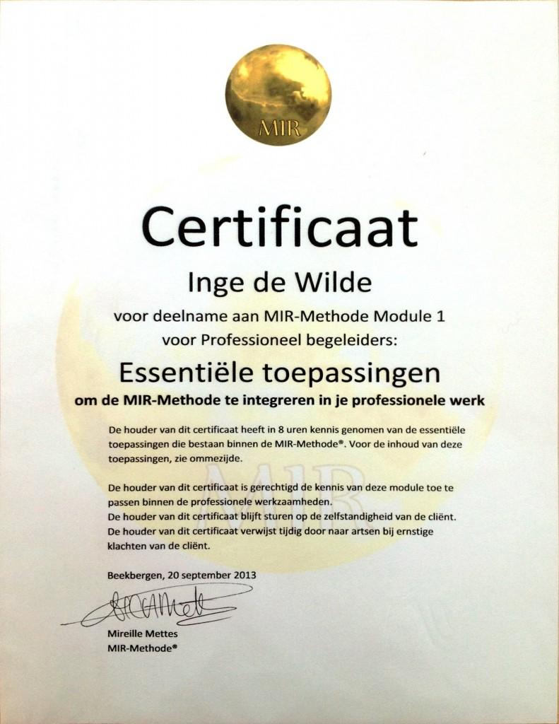 Mir methode certificaat-page1